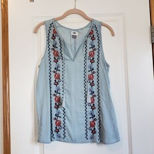 Old Navy embroidered tank